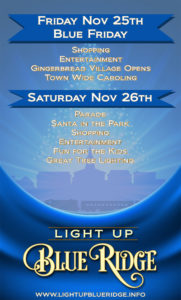 Light Up Blue Ridge Poster